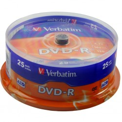 Tarrina DVD-R Verbatim